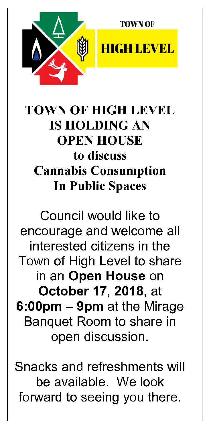 Cannabis Open House Ad Oct 17 2018