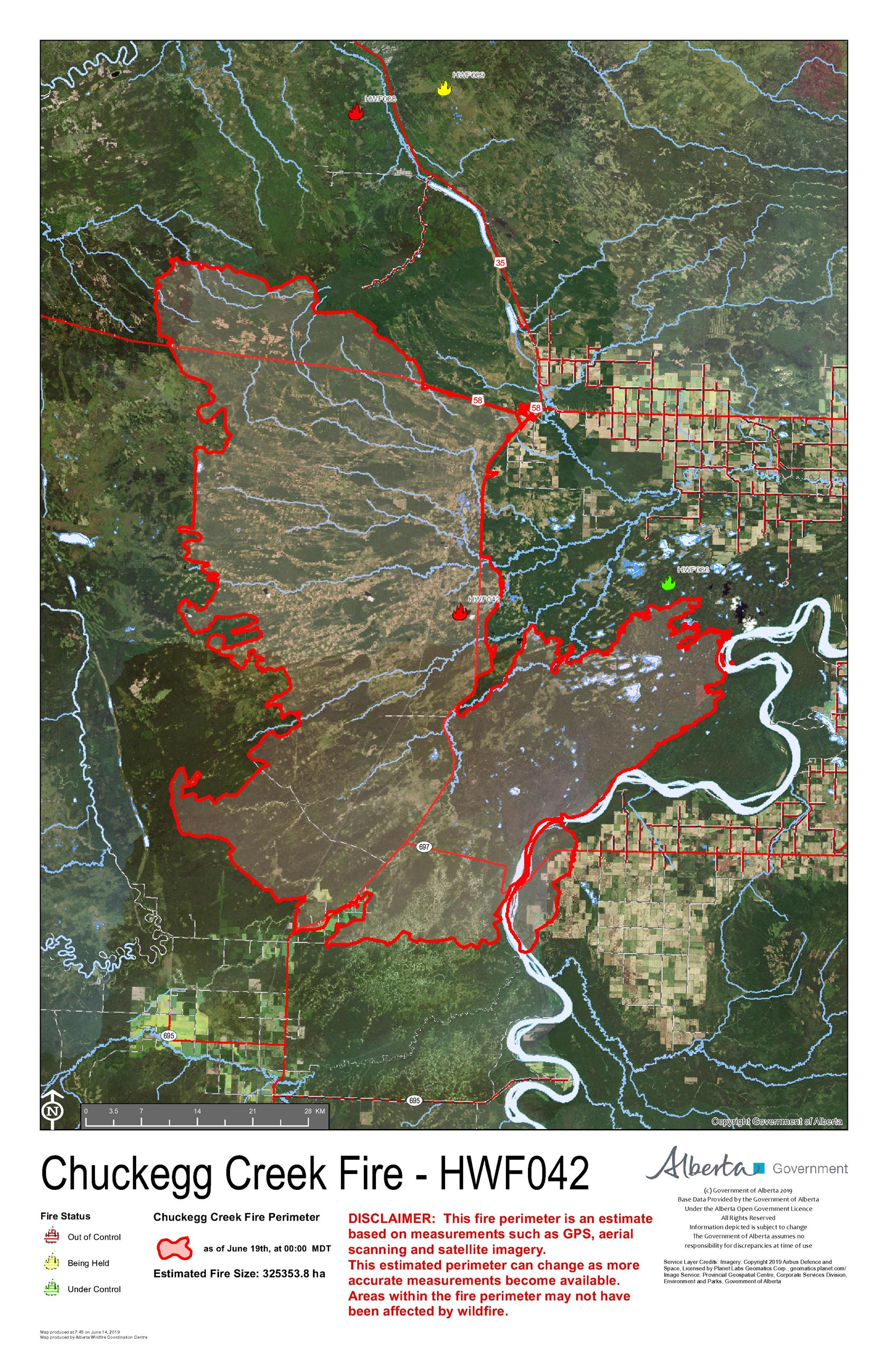 Chuckegg fire public map June 19 am